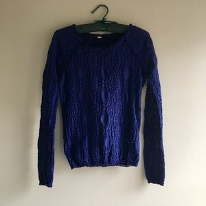 Free People Diamond Lace Top XS blue